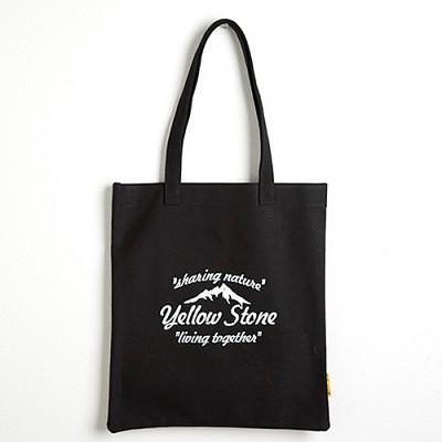 [옐로우스톤] 캔버스 에코백 - YS2025BF 블랙폰트