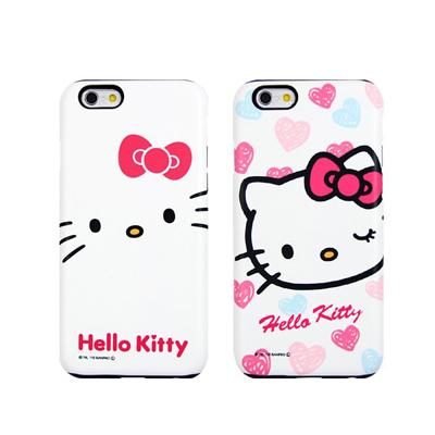[Hello Kitty]헬로키티 챠밍 실리콘 범퍼케이스-아이폰5/5S 아이폰6/6플러스