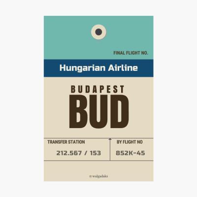 에어라인택 포스트카드 엽서 - Budapest