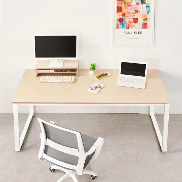 [e스마트] 2인용컴퓨터책상1680+모니터받침대증정