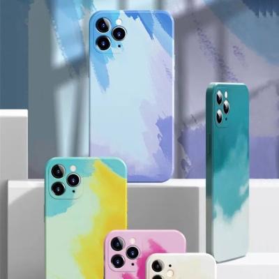 아이폰11 PRO MAX 컬러 수체화 슬림핏 실리콘 케이스