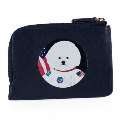 비욘드클로젯x매니퀸 카드지갑-아폴로도그 네이비