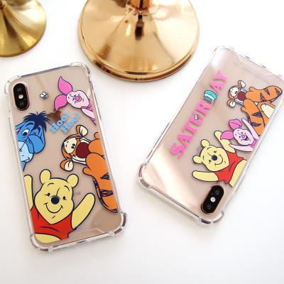 (방탄케이스) 디즈니 곰돌이푸 프렌즈 휴대폰케이스