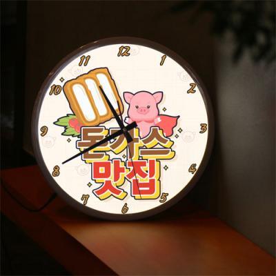 ng578-LED시계액자35R_돈가스맛집