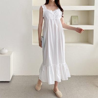 White Lace Sleepwear Dress