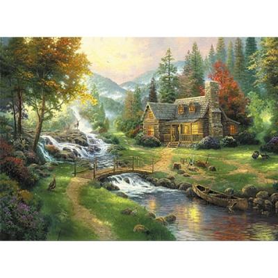 1000조각 목재 직소퍼즐▶ 숲속의 파라다이스 [WPK1000-33]