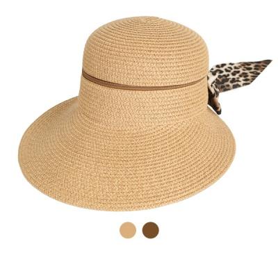 [디꾸보]호피 리본 플로피 햇 지퍼 투웨이 모자 AC543