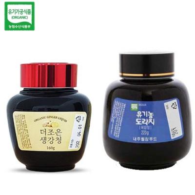 [유기가공인증] 생강청 160g+도라지 복합청 220g