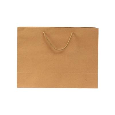 무지 가로형 쇼핑백(브라운)(35x26cm)