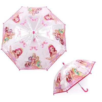 쥬쥬 리본 50 투명우산 6 7세 캐릭터 아동 자동우산