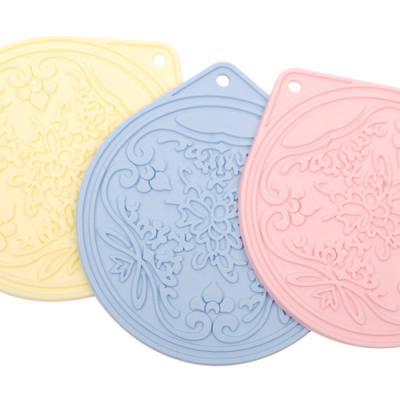 [토마톰스]실리콘조리도구 냄비받침-꽃무늬