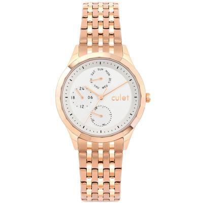 큐렛 CL10618 로즈 남녀 메탈 손목시계