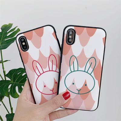 아이폰8 써니 토끼 카드케이스