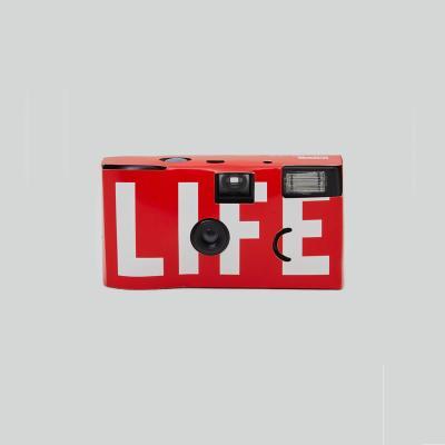 LIFE LOGO SINGLE-USE CAMERA_RED