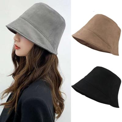 디팡 스웨이드 벙거지 패션 겨울 모자