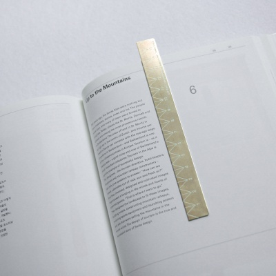 로그 황동자 30cm (Slim type)_Slim Brass Ruler
