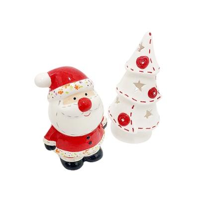 아렌델 산타와 트리 촛대 세트