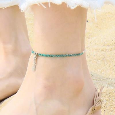i_a9 - silver tessle anklets
