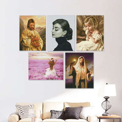 DIY 보석십자수 인물 시리즈 40*50cm
