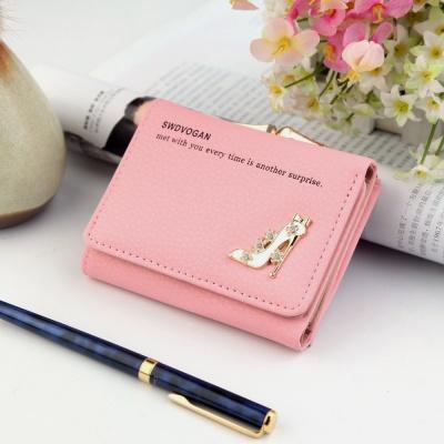 하이힐 여성 동전 반지갑(핑크)