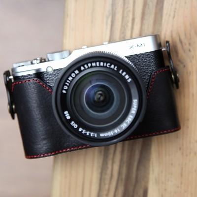 Fujifilm X-M1 & X-A1 & X-A2 속사케이스 - 블랙레드(후지필름 전용)