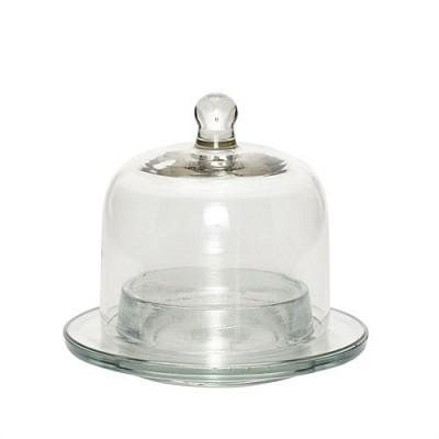 [Hubsch]Bell w saucer glass 유리벨400107