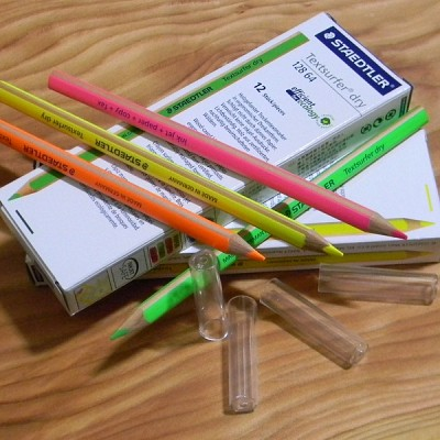 [STAEDTLER] 심 보호캡 증정..잉크젯용 형광 색연필..독일 스테들러 Textsurfer dry 128 64 1다스(12자루)