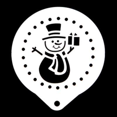 스텐스텐실-눈사람