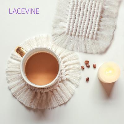 레이스빈 뜨개 티코스터 핸드메이드 컵받침 홈카페