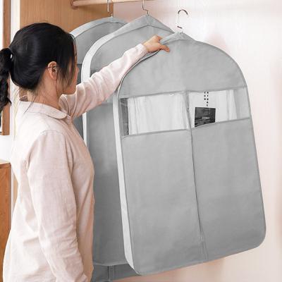 와이드 투명창 의류 옷 양복 코트 덮개 커버 (중)