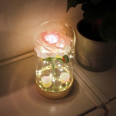 골드 핑크 쁘띠 로즈돔 LED 무드등