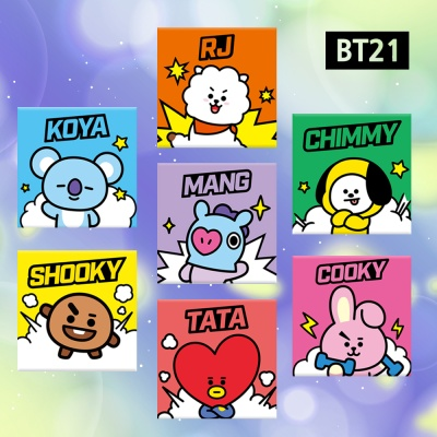 BT21 DIY 그림 그리기 캔버스 코믹 시리즈