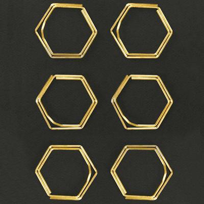 [도이] 헥스 메탈 다용도 고정 클립 골드