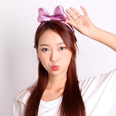 깜찍이 리본머리띠 (핑크)