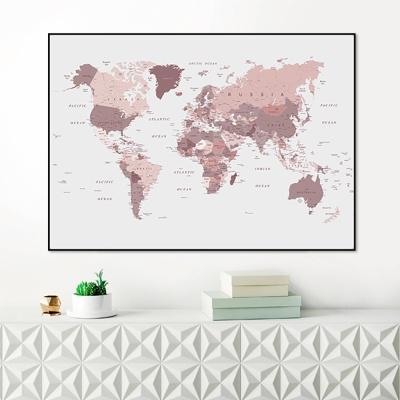 핑크 세계지도 - 홈데코 보드액자