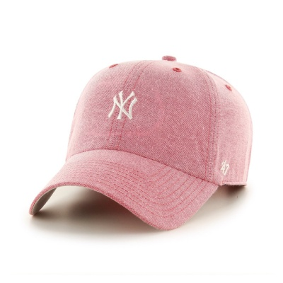 MLB모자 뉴욕 양키즈 레드도트 미니화이트로고