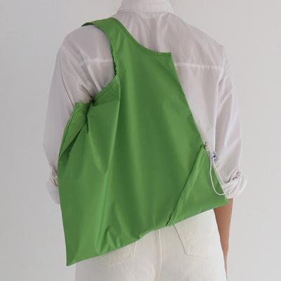 [칼라링백/그라스그린] 에코백/시장가방/보조가방