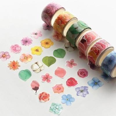 핑크풋 2000떼어쓰는마스킹테이프(꽃)