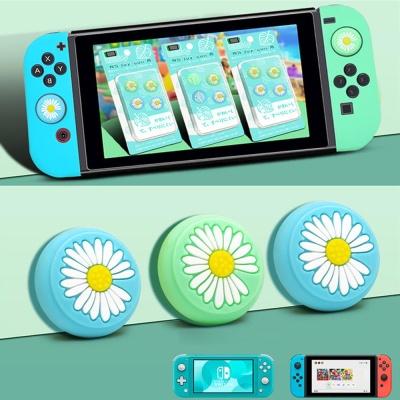 닌텐도 스위치 조이콘 꽃 버튼 커버 실리콘 키캡 스킨