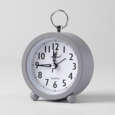 퀴리 원형 알람 탁상시계(그레이)
