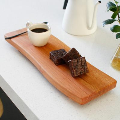 마호가니 물결 스시 보드(다리형) - 대(35cm)