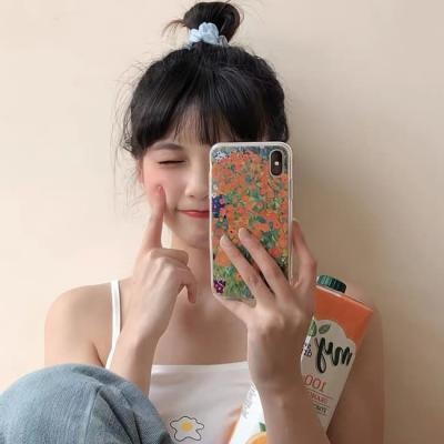 아이폰 케이스 12 11 프로 맥스 미니 오렌지 플라워