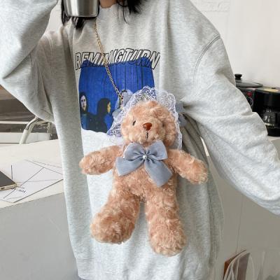 곰돌웨딩 귀여운 테디베어 크로스백 가방