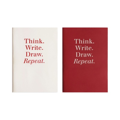 POCKET NOTEBOOK - RED / IVORY
