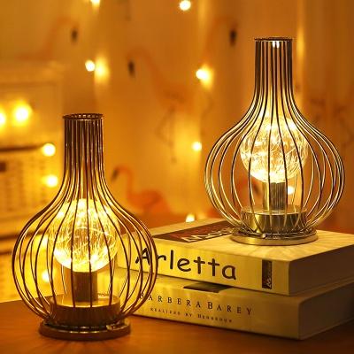 로맨틱 골든 와이어 LED 조명 2type