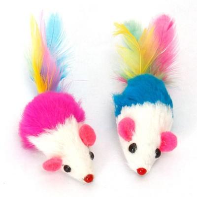 쥐모양 고양이 장난감 인형 색상랜덤