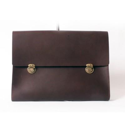 oil vintage clutch(dark brown)