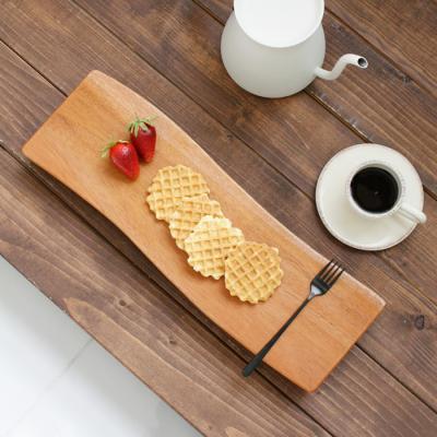 마호가니 물결 스시 보드(다리형) - 특대(45cm)