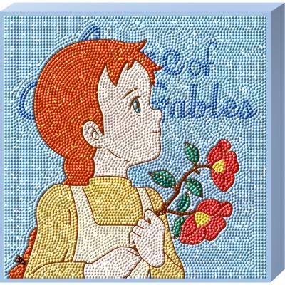 빨강머리앤 동백꽃 캔버스 보석십자수 TPD25-501