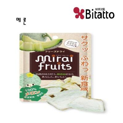 [비타토 국내생산 미래과일] 동결건조과일칩 메론칩